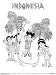 Indonesia Coloring Page Button