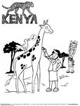 Kenya Coloring Page Button